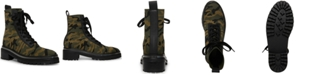 STEVEN NEW YORK Firenze Knit Combat Booties
