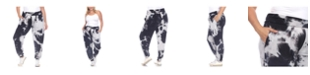 White Mark Women's Plus Size Tie Dye Harem Pants