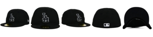 New Era Kids' Los Angeles Dodgers Black and White 59FIFTY Fitted Cap