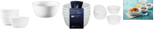 Corelle Shimmering White Collection Glass 4-Pc. Soup & Cereal Bowls