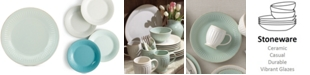 Lenox Dinnerware Stoneware French Perle Groove Ice Blue Dinner Plate