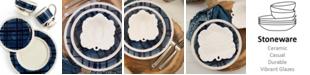 Fitz and Floyd Bristol Indigo Tartan Dinnerware Collection