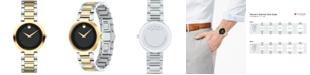 Movado Women's Swiss Modern Classic Two-Tone Stainless Steel Bracelet Watch 28mm 0607102