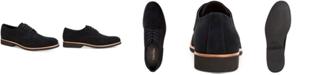Calvin Klein Men's Faustino Black Oily Suede Oxfords