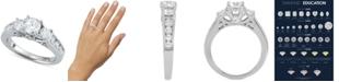 Macy's Star Signature Diamond Trinity Engagement Ring (2 ct. t.w.) in 14k White Gold