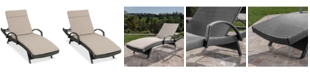 Noble House Baja Outdoor Chaise Lounge
