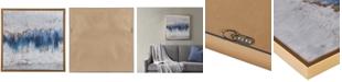 JLA Home Madison Park Blue Embrace Framed Gel-Coated A Home Canvas Print with Gold-Tone Foil