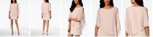 XSCAPE Petite Capelet Sheath Dress