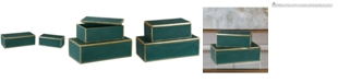 Uttermost Set of 2 Karis Emerald Green Boxes