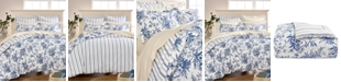 Martha Stewart Collection CLOSEOUT! Cozy Toile Cotton Flannel Full/Queen Duvet Cover, Created for Macy's