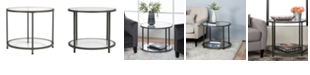 Studio Designs Home Camber Round Glass End Table