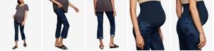 J Brand Maternity Cropped Straight-Leg Jeans
