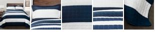 Lush Decor New Berlin King Stripe Quilt 3Pc Set