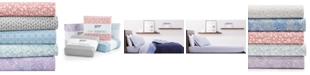 Martha Stewart Collection CLOSEOUT! Printed Microfiber 4-Pc. Sheet Sets, Created for Macy's