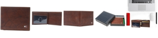 Tommy Hilfiger Men's Traveler RFID Extra-Capacity Bifold Leather Wallet