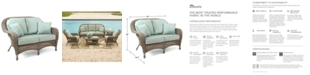 Furniture Sandy Cove Wicker Outdoor Loveseat, Created for Macy's