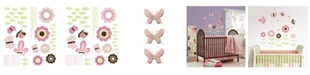 Brewster Home Fashions Butterfly Garden Wall Art Kit