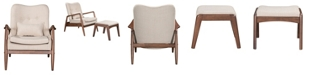 Zuo Bully Lounge Chair & Ottoman Beige