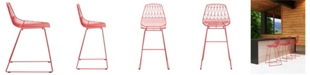 Zuo Brody Bar Chair Red (Set of 2)