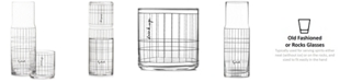 The Cellar CLOSEOUT! Words Gridded Carafe and Double Old-Fashioned Glass, Created for Macy's