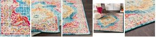 """Abbie & Allie Rugs Morocco MRC-2303 Teal 18"""" Area Rug Swatch"""