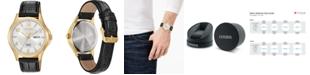 Citizen Men's Quartz Brown Leather Strap Watch 41mm