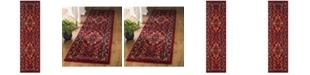 """Safavieh Cherokee Red and Fuchsia 2'3"""" x 8' Runner Area Rug"""