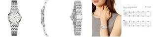 Bulova Women's Dress Diamond-Accent Stainless Steel Bracelet Watch 27mm