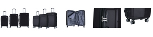 InUSA Avila 3-Pc. Lightweight Hardside Spinner Luggage Set