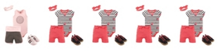 Yoga Sprout Baby Girl and Boy Fresh Yoga Sprout Layette and Shoe Set, Pack of 4