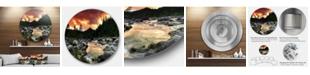 "Design Art Designart 'Rocky Mountain River At Sunset' Extra Large Wall Art Landscape - 23"" x 23"""