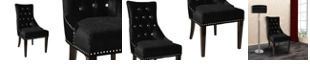 Armen Living Carlyle Tufted Side Chair