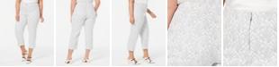 Alfani Plus Size Printed Skinny Capris, Created for Macy's
