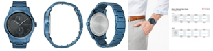 HUGO Men's #Discover Blue Stainless Steel Bracelet Watch 46mm