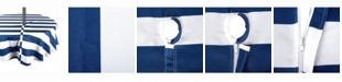 """Design Import Nautical Blue Cabana Stripe Outdoor Table cloth with Zipper 52"""" Round"""