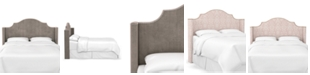 Martha Stewart Collection Skylands Collection Paulina Cal King Wingback Headboard, Quick Ship, Created for Macy's