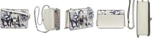 DKNY Elissa Graffiti Logo Leather Shoulder Bag, Created for Macy's