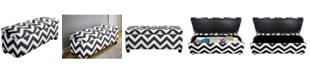 MJL Furniture Designs Sole Secret Diamond Tufted Shoe Storage Bench