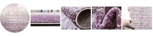 Bridgeport Home Lyon Lyo2 Purple 6' x 6' Round Area Rug