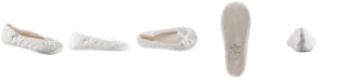 Isotoner Signature Isotoner Women's Satin with Rhinestones Ballerina Slipper, Online Only