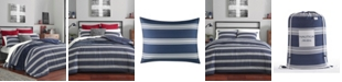 Nautica Craver Navy Full/Queen Comforter Sham Set
