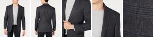 Tommy Hilfiger Men's Modern-Fit THFlex Stretch Gray and Blue Plaid Sport Coat