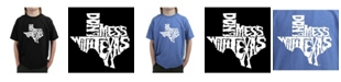 LA Pop Art Big Boy's Word Art T-Shirt - Don't Mess With Texas