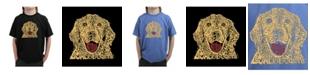 LA Pop Art Big Boy's Word Art T-Shirt - Dog