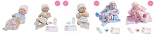 JC TOYS La Newborn All Vinyl Anatomically Correct Real Girl 15 inch Baby Doll in Pink Knit Outfit and Accessories - For Children 2 Years and older, Designed by Berenguer.