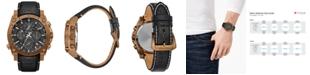 Bulova Men's Champlain Precisionist Black Leather Strap Watch 46.5mm