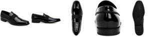 Calvin Klein Men's Demetrius Patent Leather Tuxedo Loafers