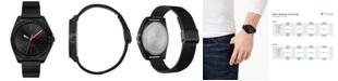 HUGO Men's #Act Black Stainless Steel Mesh Bracelet Watch 44mm