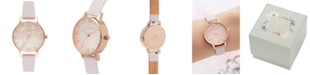 Olivia Burton Women's Blossom Leather Strap Watch 30mm