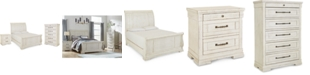 Furniture Trisha Yearwood Homecoming Sleigh Bedroom Collection 3-Pc. Set (California King Bed, Nightstand & Chest)